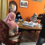 Penghasilan 'Face shield' Wanita IKRAM Perak dalam liputan media