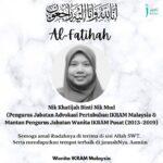 Perginya mantan eksekutif Jabatan Wanita, Almarhumah Nik Khatijah
